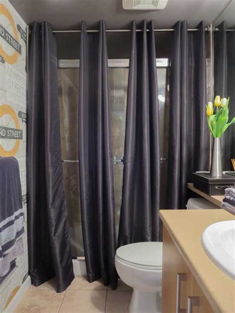 bathroom door curtains the best way to cover dated shower doors maria killam