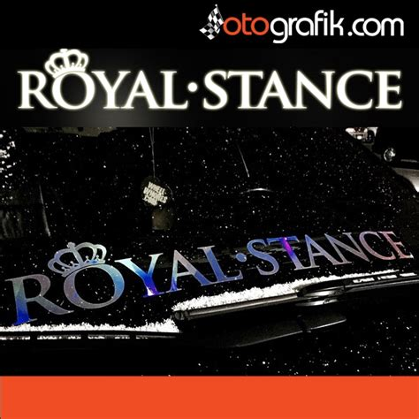 royal stance oen cam oto sticker otografik