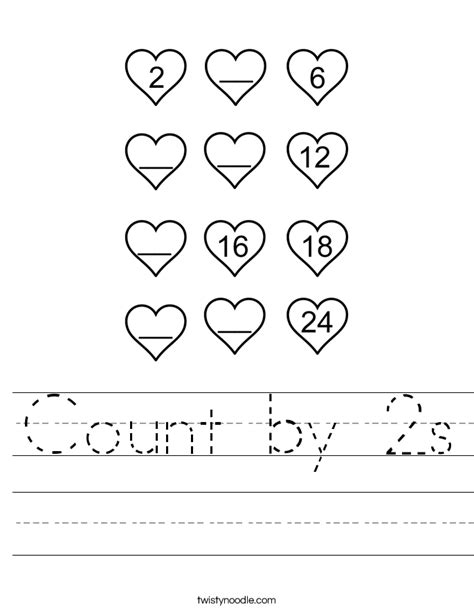 Counting By 2 S Worksheet by Pictures Count By 2s Worksheet Getadating