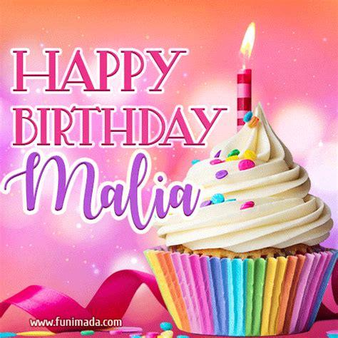 happy birthday malia lovely animated gif   funimadacom
