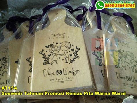 Souvenir Telenan Kayu Kemas souvenir talenan promosi kemas pita warna warni souvenir pernikahan
