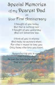A dad first anniversary bereavement graveside memorial keepsake