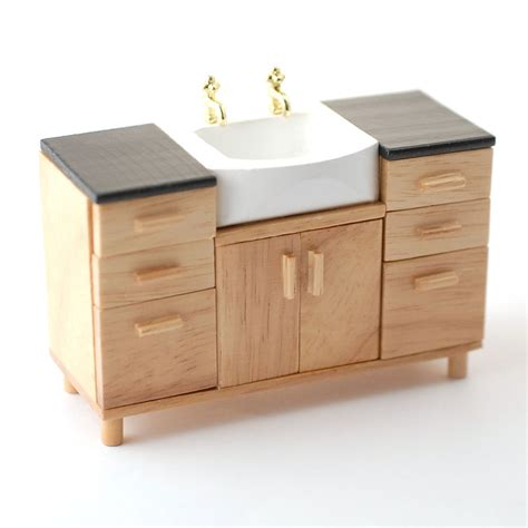 Dolls House Bathroom Furniture Df991 Modern Sink Unit Dolls House Superstore