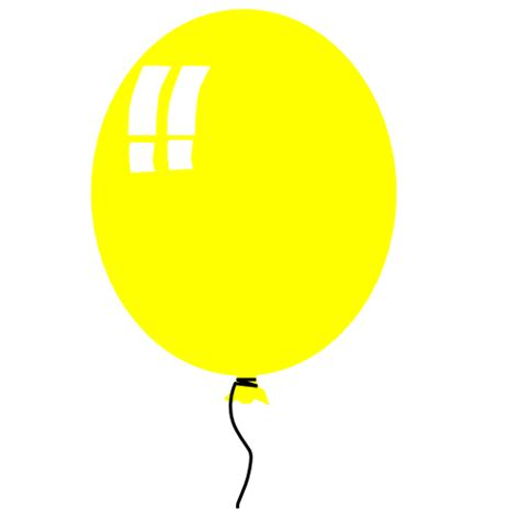 Yellow balloon clipart clipart panda free clipart images