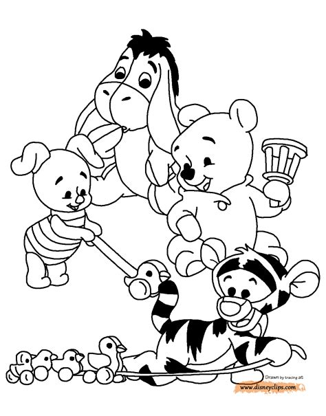 coloring pages disney winnie the pooh baby winnie the pooh characters coloring pages kids