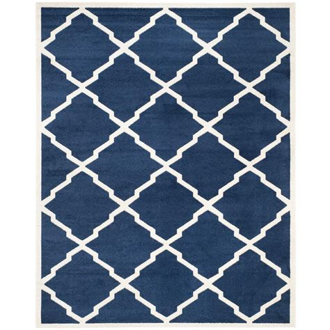 Safavieh Amherst Navy Beige 6 Ft X 9 Ft Indoor Outdoor Safavieh Indoor Outdoor Rugs