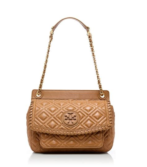 Burch Quilted Small Shoulder Bag Original burch marion quilted small shoulder bag in brown