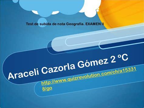 test geografia test geografia examen ii