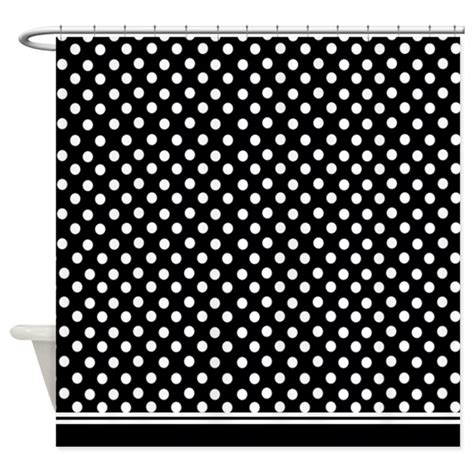 Black And White Polka Dot Shower Curtain By Inspirationzstore