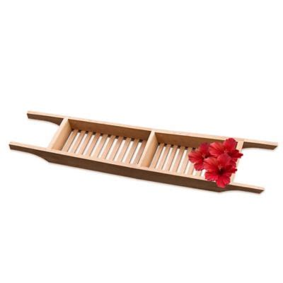 teak bathtub caddy buy teak bathtub tray caddy from bed bath beyond