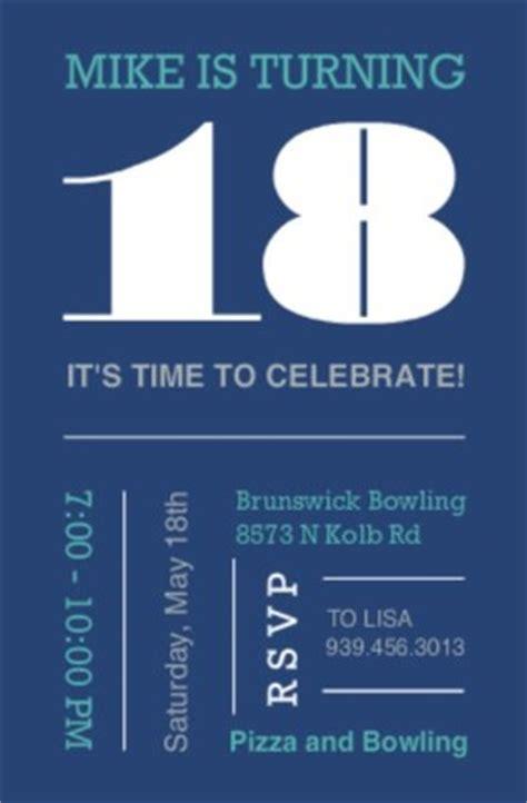 18th Birthday Invitations From Purpletrail 18th Birthday Invitation Templates Free