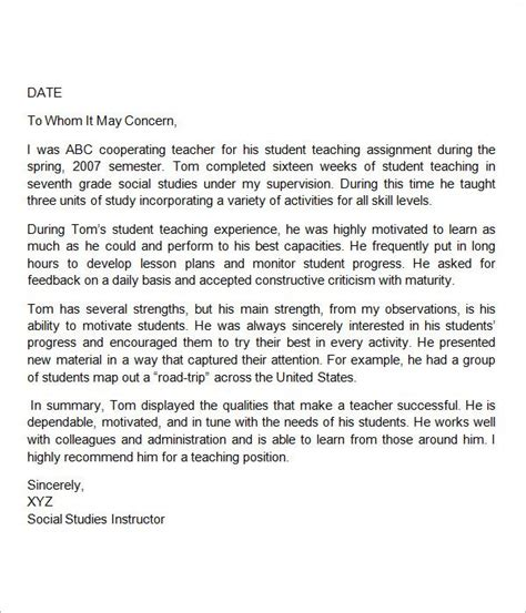 thank you letter after elementary school sle letter of recommendation for education