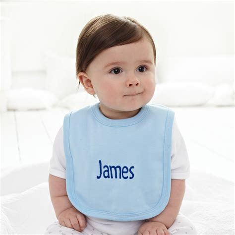 Bib Baby blue personalised baby bib set baby boy clothes my 1st