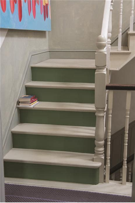calke green stairs interiors  color