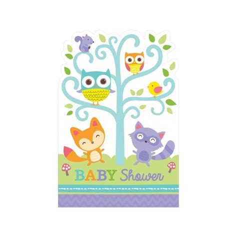 Baby Showeres by Woodland Baby Shower Invitations