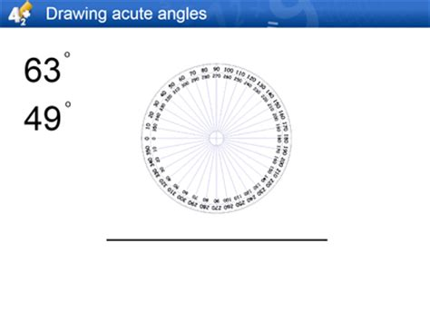 protractor template gen drawing angles draw acute obtuse and reflex angles to