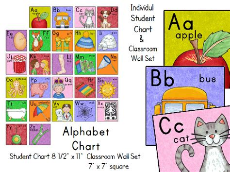 printable alphabet for classroom student alphabet chart and wall set printable worksheet