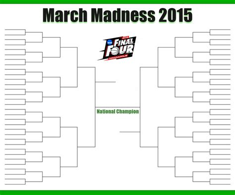 Blank March Madness Bracket Template march madness bracket march madness bracket 2016