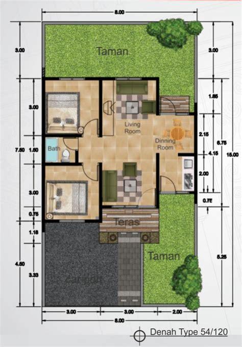 desain layout rumah type 54 denah rumah minimalis tipe 54 9 design rumah