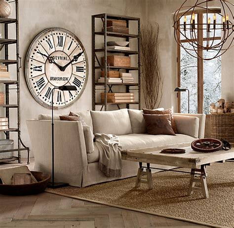 clock in living room 30 stylish and inspiring industrial living room designs digsdigs
