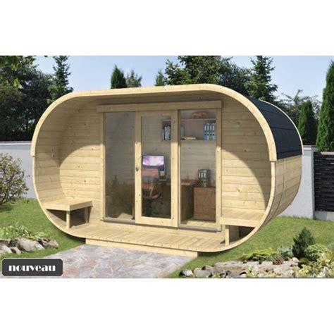 chalet bureau de jardin ovale kit bois thermowood