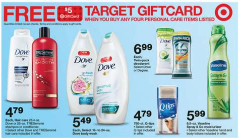 Target Gift Card Policy - target gift card promotion tresemme vaseline and dove my frugal adventures