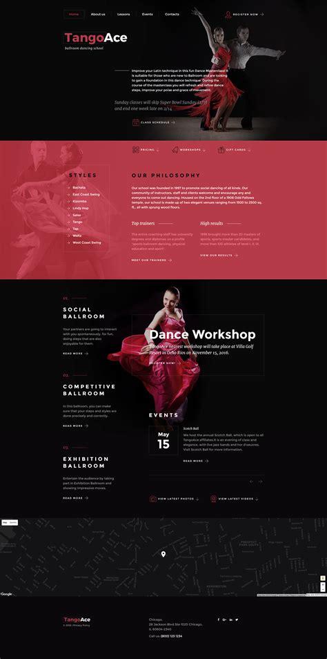 templates for dance website dance academy website template