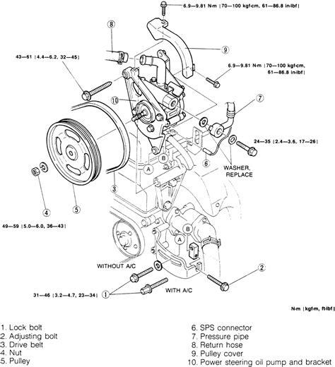 electric power steering 2002 mazda protege5 electronic valve timing service manual 2007 mazda mazda6 power steering belt install how to install new belt