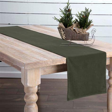 72 inch table runner green velvet 72 inch table runner by vhc brands the