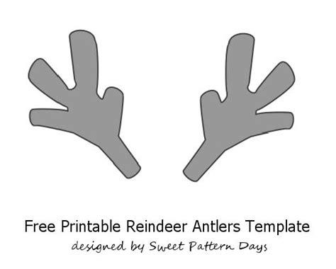 rudolph antlers template printable reindeer antlers template pre school daycare