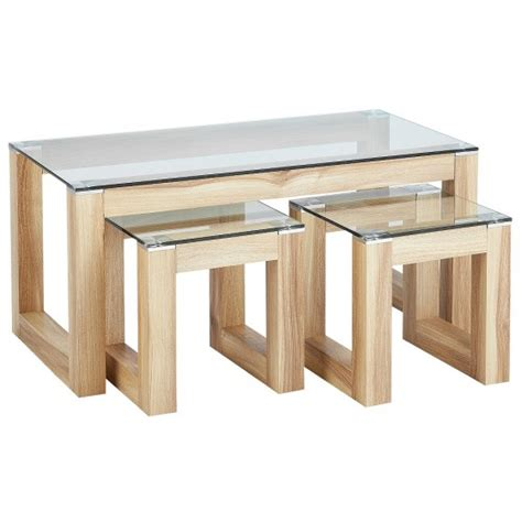 hygena coffee table hygena cubic coffee table set with 2 side tables tables