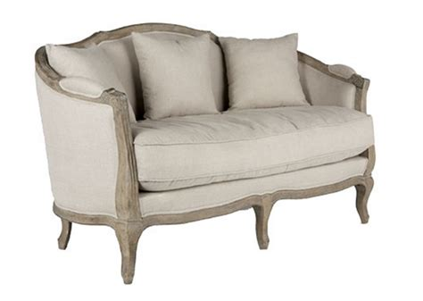 Linen Settee rg the shop library linen settee