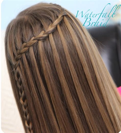 waterfall braid hair style  color  woman