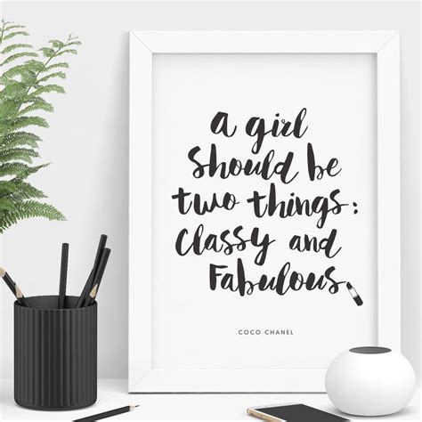 classy and fabulous coco chanel quote by the motivated