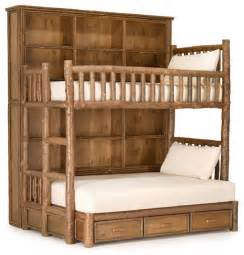 how to build bunk beds rustic custom bunk bed by la lune collection rustic