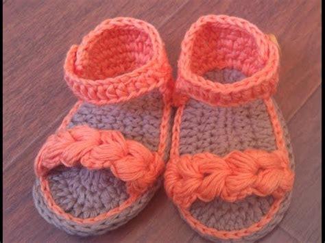imagenes de sandalias egipcias sandalias de verano para beb 233 a crochet parte 1 youtube