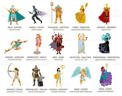 list of roman deities wikipedia the free encyclopedia olympian greek gods stock vector art more images of