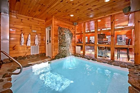 1 bedroom cabin with indoor pool 2 bedroom cabins in gatlinburg tn for rent elk springs resort