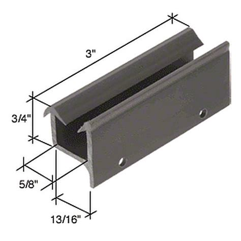 Sliding Shower Door Guide Crl M6195 Wide Sliding Shower Door Bottom Guide Thebuilderssupply