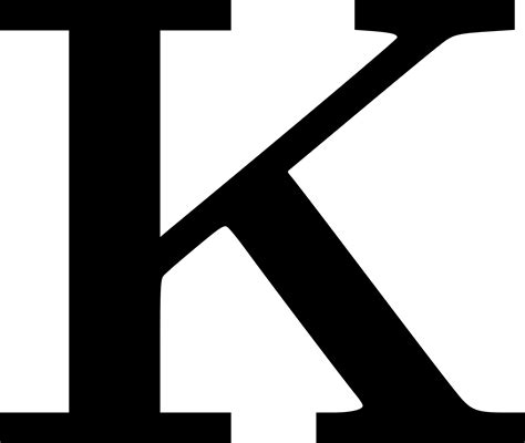 Clipart   Cyrillic letter K