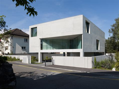 house on pillars plan bearth deplazes architekten gt private house on six pillars schaan hic arquitectura
