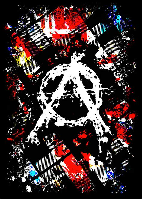 Punk Home Decor by Anarchy Punk Digital Art By Roseanne Jones