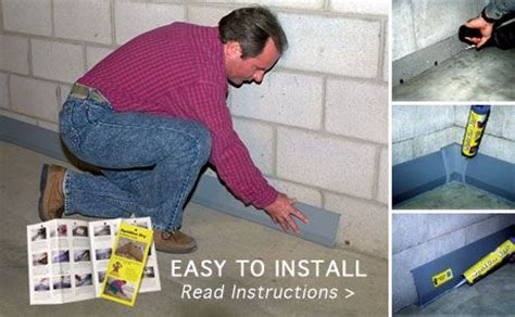 Diy Basement Waterproofing Sealonce Basement System