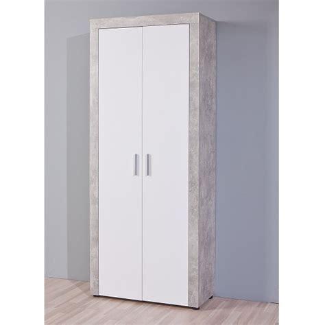 Hallway Wardrobe by Monton Hallway Wardrobe In Concrete Effect And White High