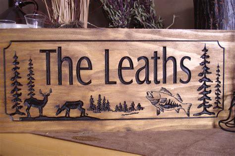 Wood Signs For Cabins by Wood Carved Ranch Cabin Signs Last Name Family Address Plaque