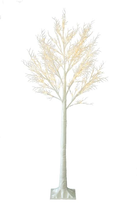 6ft christmas twig tree pre lit 120 led warm white lights