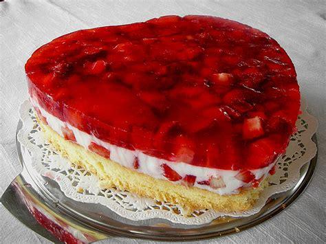 kuchen herzform rezept erdbeer jogurt torte rezept mit bild birgit1980