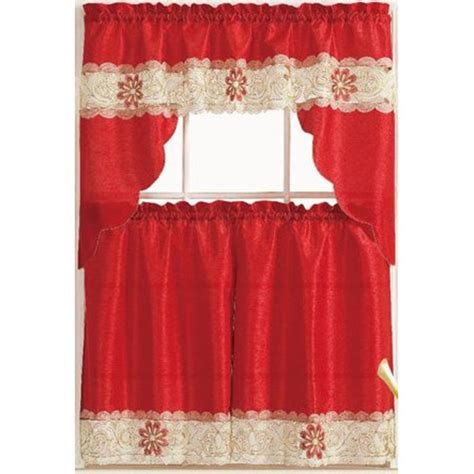 red and white curtains for kitchen red kitchen curtains a listly list