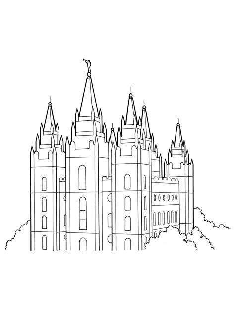 Salt Lake Temple Coloring Page salt lake city temple