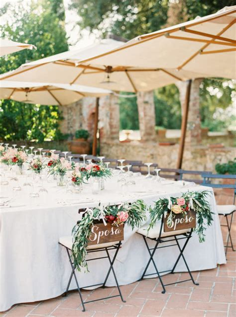 tuscany outdoor wedding style me pretty